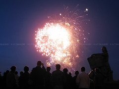 Crowd watching the fireworks on the anniversary celebration ([ 117 Imagery ]) Tags: show people night spectacular happy evening fireworks anniversary crowd watching joy happiness leisure presentation joyful crowded crowdy celebbration