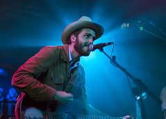 Lord Huron - Hare and Hounds - May 20th (Vemsteroo) Tags: light people music man smile hat canon beard person 50mm lights concert lowlight guitar f14 live stage gig microphone moment stetson strum 6d niftyfifty lordhuron