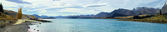 Lake Tekapo: Across the Outflow (Falcdragon) Tags: autumn panorama lake water sony a200 tekapo hugin photoninja minoltabeercan