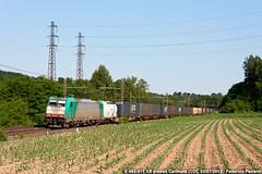 Crossrail per GTS (Elmeon) Tags: train merci railway zug container bahn stazione treno piacenza freight xr carri 017 ferrovia elettrica locomotiva crossrail chiasso rfi carimate e483