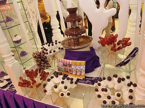 Cadbury musical creamy choclate fountain in SM Megamall