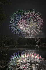 Fireworks (Pixo7000) Tags: blue red orange color green nature yellow jaune rouge fire nikon eau fireworks colorfull lac vert bleu nikkor couleur feu artifice manfrotto etang 18105 pyrotechnie pyrotechnique d7000 maizierelesmetz maizirelsmetzmaizierelesmetz maizirelsmetz