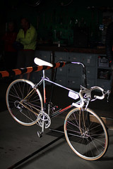 Concorde (lukemarkof) Tags: camera city blue winter shadow red party brown streetart black building green art heritage classic texture bike bicycle night canon vintage silver dark fun happy grey cycling design exposure paint cyclist play view ride respect display steel interior transport fast style australia melbourne indoor funky brunswick victoria exhibition special clear exotic chrome cycle gathering local custom rare depth interest neighbourhood built challenging 2013 60d treadlie
