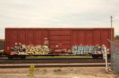 GARP CHEEKS (The Braindead) Tags: art minnesota train bench photography graffiti painted tracks minneapolis rail explore beyond the