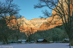 Snow Blanket In Zion (tourtrophy) Tags: snow canon landscape nationalpark sandstone zion zionnationalpark sandstones navajosandstone landscapephotography snowscenery snowredrock