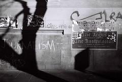 remnants (lonely radio) Tags: film words shadows australia victoria pc3000 cbd walls olympusxa2 melboune elizabethst argusbuilding f1000036 dzuikof3535mm