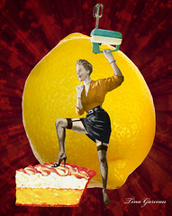 Friday Five - No. 22 (T Garceau) Tags: stockings collage illustration pie lemon highheels explosion cheesecake pearls gloves triumph blender meringue digitalcollage garters handmixer tinagarceau