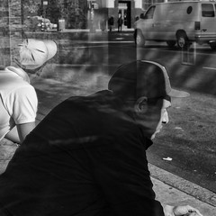 Shadows (Natalie_2105) Tags: world street camera city nyc portrait bw white newyork black eye souls 35mm square lens photography 50mm flickr moments fotografie faces candid scene best explore squareformat stadt format natalie webb strassenfotografie flickrriver queensusa schleutermann scrout