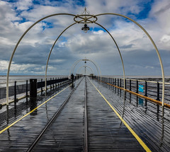 Southport Pier (Likkle Oy) Tags: uk sea sky clouds coast pier southport
