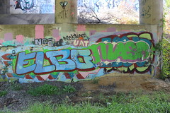 Elbo, Maso (NJphotograffer) Tags: new railroad bridge graffiti nj rail crew jersey styles vs graff vicious trackside maso elbo uat sfb