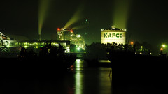 KAFCO_Chittagong (Moments Catcher) Tags: color night standing river boat factory ship smoke bangladesh agricultural manufacture chittagong bangladeshi riverscape fertilizerindustry agriculturalproduct