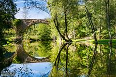 El pont de Malafogassa (Albert Codina) Tags: espaa reflection water landscape catalunya catalua 2013 vilanovadesau canonef1635mmf28liiusm canoneos5dmarkiii