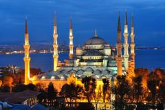 The Blue Mosque at dusk (Gene Tobia) Tags: turkey turkiye istanbul constantinople