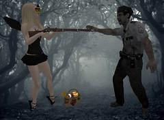 zombie wait (Barbievstheworld) Tags: halloween freestyle secondlife una isis mothergoose ploom axix tenacio