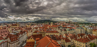Prague view from the Astronomical clock