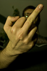 TFD: 018 (Tylerbomb) Tags: shadow self pepper glasses hand fuck dr finger fingers rude tshirt off dirty 365 middle gesture flirty knuckles thirty