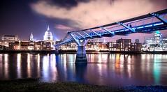 View of St Paul's and Millennium Bridge (Yannick Wilson) Tags: bridge london st night nikon pauls millennium d800