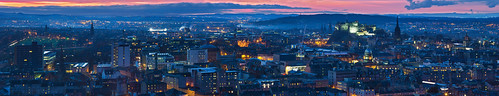 Edinburgh Old Town - Panoramic from the Crags