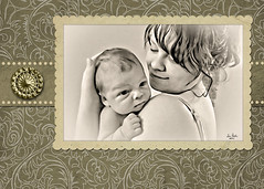 Brianna and Isaac cell phone pic with frame (Teri Bertin Images) Tags: family portrait people baby canon frames daughter selftaught motherandchild thunderbay thunderbayontario canoneos5d framedportrait teribertin