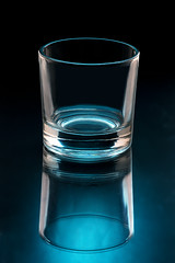 (Mimadeo) Tags: blue light black reflection water kitchen glass vertical blackbackground bar one restaurant design crystal drink empty small beverage cyan illuminated clean liquor blank single simplicity transparent isolated elegance glassware purity fragility isolatedonblack