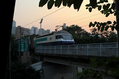 KTT train near Mong Kok East station (florian_grupp) Tags: railroad train hongkong asia railway locomotive kowloon mtr ktt