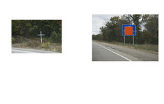 (nich_thomas) Tags: road sign death highway memorial cross accident 94 roadside