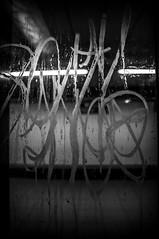 Untitled. (PiggBox.) Tags: madrid window public glass underground graffiti lift metro elevator transport dirt vandal graffitti