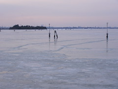 "Two years ago... Venice ""on the rocks"" (Daisuke Ido) Tags: venice winter ice canal lagoon laguna inverno venezia canale ghiaccio"