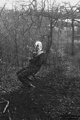 Look who's come to play (Callum~McDonald) Tags: forest photoshop clown swing horror exploration