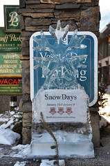 Ice Sculpture Snowflake (pokoroto) Tags: snowflake winter sculpture canada ice january alberta banff 2014 1 mutsuki        affectionmonth 26