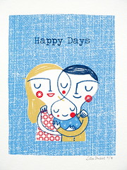 Happy Days ('Lil Sonny Sky) Tags: family baby screenprint lisastubbs