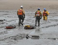 Mud Rescue (Keo6) Tags: coastguard rescue water river team mud mersey