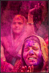 Happy Holi ~ EXPLORED #443 (17-Mar-2014) (ujjal dey) Tags: colour smile face celebration smear hyderabad holi ujjal nikond90 indiancelebrations ujjaldey begumbazar holi2014
