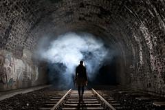 Tunnel de Montsouris (flallier) Tags: railroad paris underground railway tunnel rails souterrain montsouris fumée chemindefer fumigène voieferrée