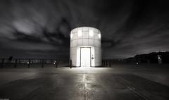 Lab2067LR (janwellmann) Tags: architecture night lights losangeles elevator entrance highcontrast observatory griffithpark