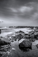En la Orilla II (Jose María Ruiz) Tags: sea españa cloud beach stone mar andalucía spain playa shore nubes benalmádena málaga orilla piedra andalusía cruzadas cruzadasgold