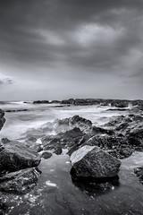 En la Orilla II (Jose Mara Ruiz) Tags: sea espaa cloud beach stone mar andaluca spain playa shore nubes benalmdena mlaga orilla piedra andalusa cruzadas cruzadasgold