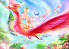 Chinese Constellations (shawlisfantasy) Tags: woman flower bird art nature girl beautiful beauty museum lady female illustration garden waterfall pretty paradise artist gallery dragon graphic drawing digitalart chinese constellation pheonix digitalartist shawli shawlisfantasy