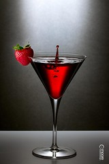Strawberry Martini (jesmo5) Tags: blue red party food black color reflection green art water glass colors yellow fruit table gold golden bottle lemon strawberry paint artist glow purple wine peach plum dramatic martini bubbles pop tables gradient lime wineglass elegant rgb gels gel beaumont magazinecover specialevents beaumonttexas productphotography martiniglasses southeasttexas gradated jessiemoore moorecreativedesign