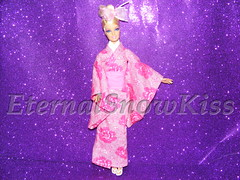 Sakura Blossom ( eternal-snow ) Tags: doll blossom sewing barbie yukata sakura kimono tutorial