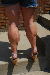 DSC_0236jj (ARDENT PHOTOGRAPHER) Tags: highheels muscular veins calves flexing veiny bodybuildingwoman