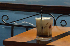 Euro Vision/  Another Baileys out (Le monde d'aujourd'hui) Tags: cruise sea sunshine view euro santorini greece cocktail vision baileys thira volcanoe bailout