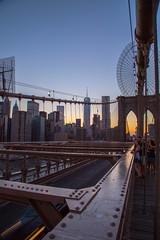 Brooklyn Bridge (vandan desai) Tags: nyc newyorkcity bridge sunset sunlight ny newyork colors brooklyn landscape evening east brooklynbridge eastriver