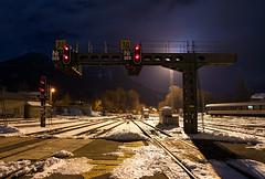 Puente de señales de la estación de Briançon
