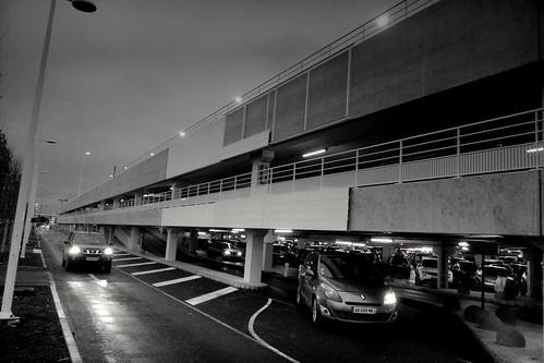 Centre commercial Carré Sénart (Lieusaint-Seine et Marne) un soir d'hiver