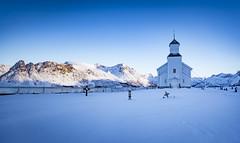 Gimsoy blue (Lukasz Lukomski) Tags: church gimsoy lofoten lofoty longexposure nikond7200 sigma1020 lukaszlukomski landscape krajobraz norway norwegia norge mountains góry snow snieg ice lód wyspa archipelago europe europa