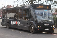 Diamond Optare Solo 20522 (MX57 UPW) (Redditch) (john-s-91) Tags: diamond optaresolo 20522 mx57upw bloxwich walsallroute19