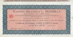 TESSITURA MECCANICA G. BRAMBILLA (scripofilia) Tags: 1923 azioni brambilla meccanica tessitura tessiturameccanicagbrambilla
