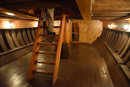 Inside the Hull of The Matthew Legacy, Bonavista, Newfoundland