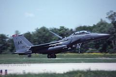 90-0250  F-15E  90 FS/3 FW (caz.caswell) Tags: londoninternationalairport yxu londonairportontariocanada 900250 f15 90fs3fw pacaf pacificairforce usaf usairforce ak usairforcealaska fastjet mcdonnelldouglas twinjet twintail afterburner strikeaircraft fighter